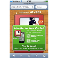 Mooklet's screen shot